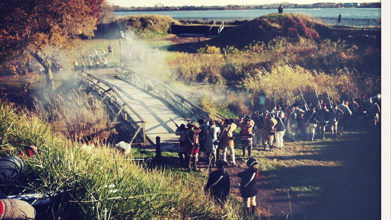 Revolutionary re-enactment at Fort Mifflin