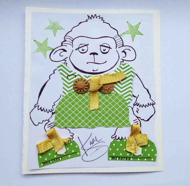 Pilkington was resourcefil in using stables for the monkey's bows. (Cards for Keeps)