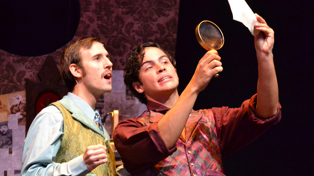Charleston Stage actors Jesse Siak stars as Dr. Watson and Jacob Dickey as Sherlock Holmes.