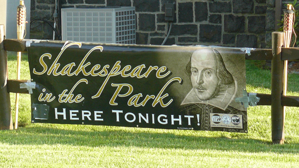 """All the world's a stage,"" according to Shakespeare. Just make sure to put a sign up. (Facebook)"
