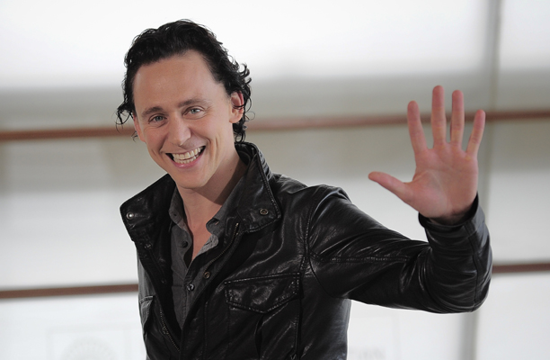 Tom Hiddleston is seen being his friendly, smiley self. (AP Photo/Alvaro Barrientos)