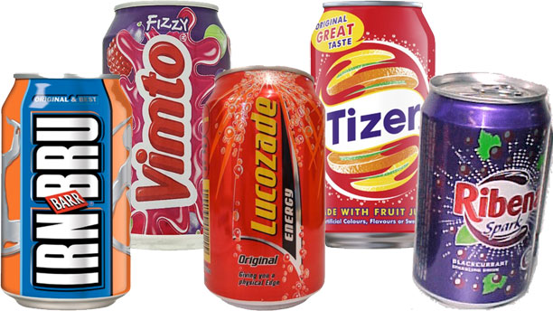 A selection of British sodas