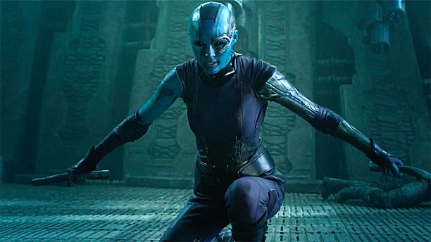 Karen Gillan as Nebula in 'Guardians of the Galaxy' (Pic: Marvel)