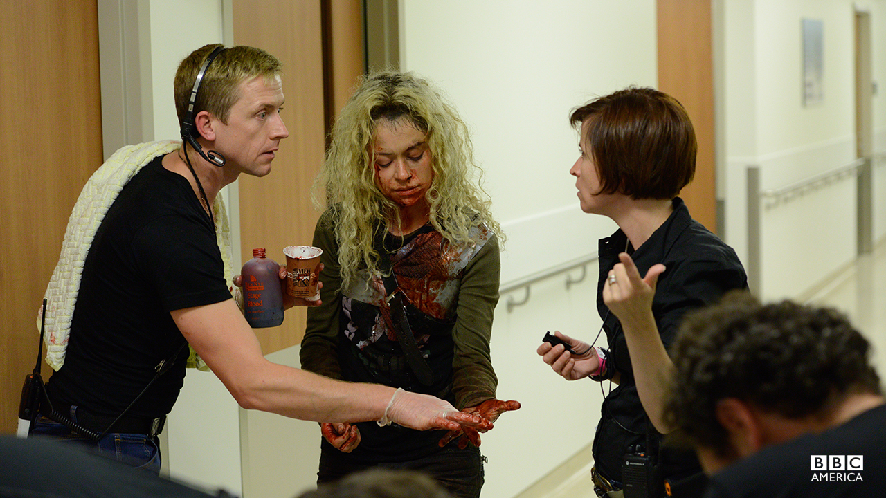 Tatiana gets an extra coating of blood for Helena's dramatic return in the season two premiere.