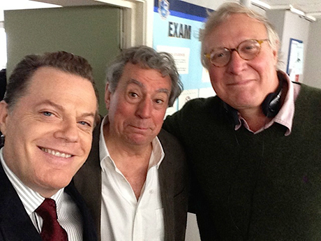A selfie: Gavin Scott (far right) with Eddie Izzard and Terry Jones. (Photo: Eddie Izzard)