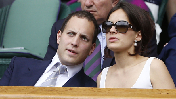 Lord Frederick Windsor and Lady Sophie Windsor at Wimbledon. (Photo: Rex Features via AP Images)