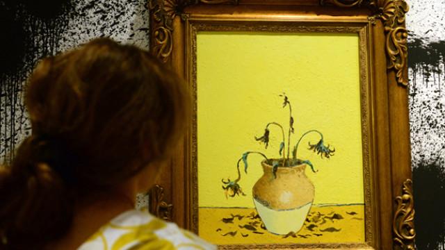 Banksy The Unauthorised Retrospective exhibition, Sotheby's, Lon