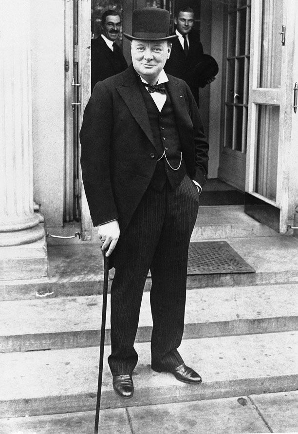 Winston Churchill, another hat devotee, brings the best of British style to a 1929 White House visit. (AP)