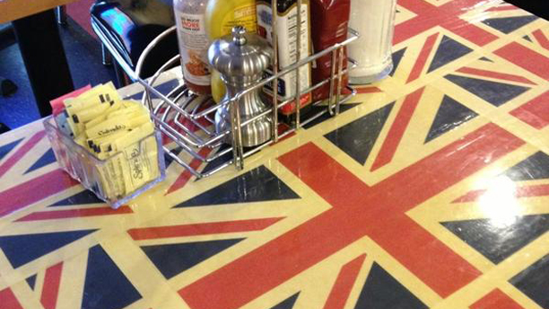 The Union Jack table top is thrown in for free. (Extra Perk)