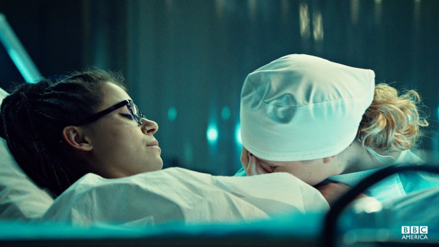 "Delphine is hopeful they'll find a cure for Cosima's mysterious illness. ""This is the beginning of getting you well, Cosima."""