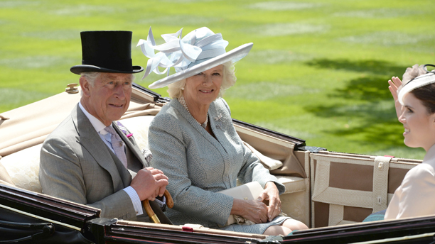 Prince Charles, Camilla Duchess of Cornwall and Princess Eugenie Royal Ascot race meeting, Berkshire, Britain - 17 Jun 2014  (Rex Features via AP Images)