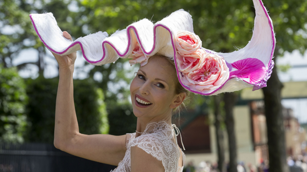 TV Presenter Anneka Tanaka-Svenska. Royal Ascot race meeting, Berkshire, Britain - 17 Jun 2014  (Rex Features via AP Images)