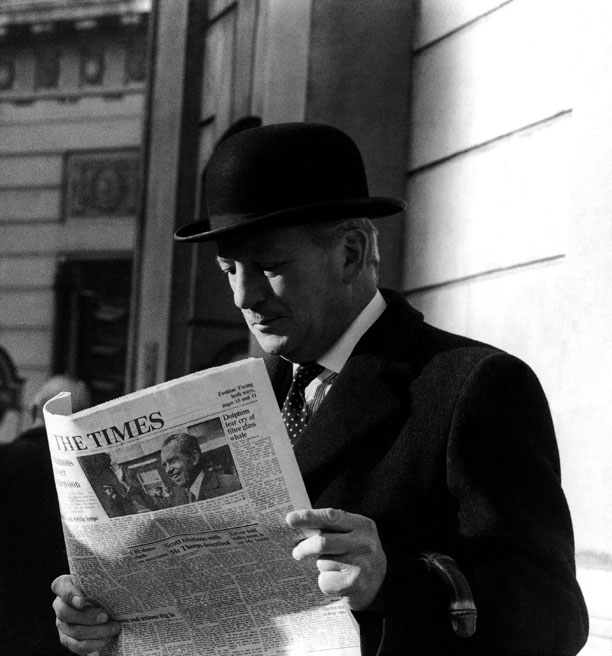 In the end, few are more naturally suited to the bowler hat than the everyday Englishman. (Bob Dear/AP)