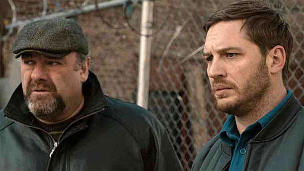 James Gandolfini and Tom Hardy in 'The Drop'