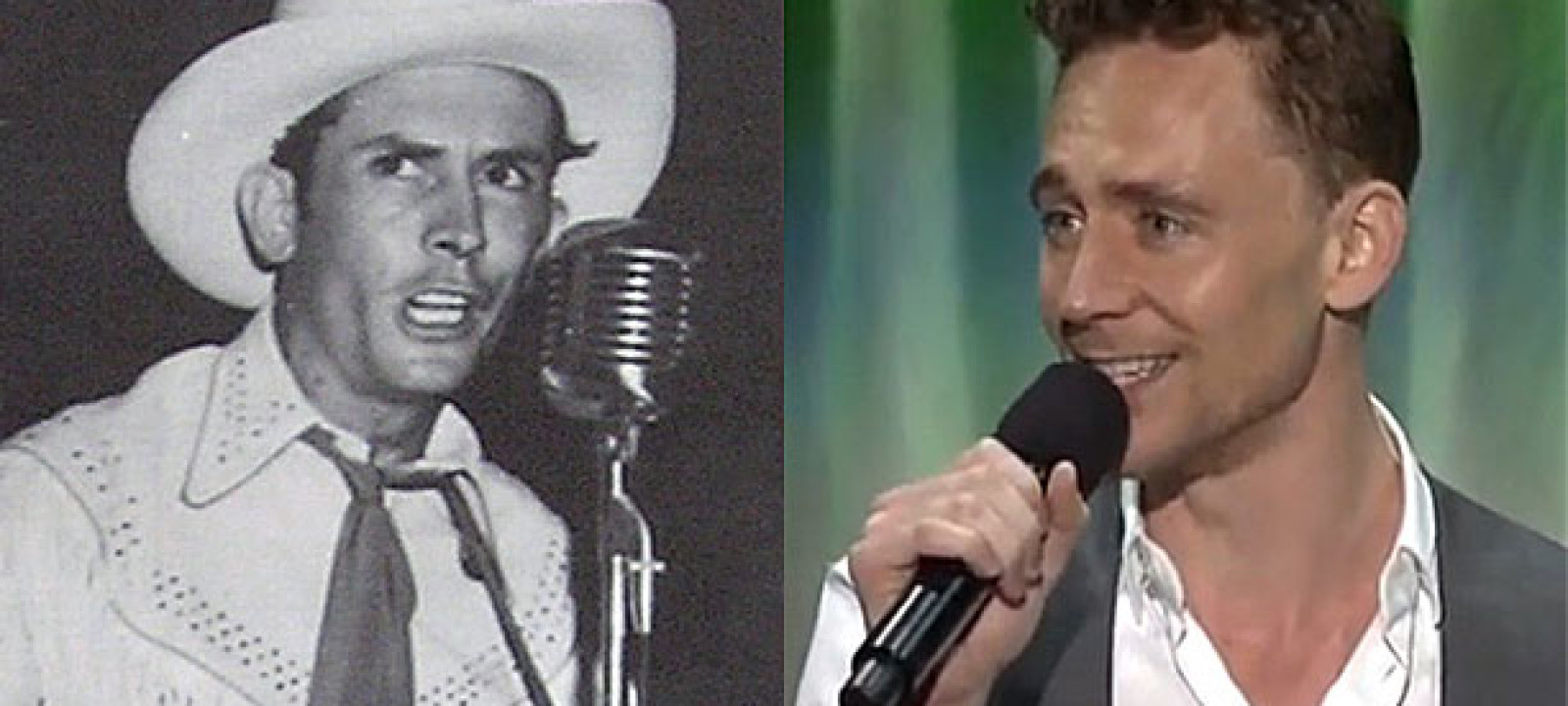 Hank Williams and Tom Hiddleston