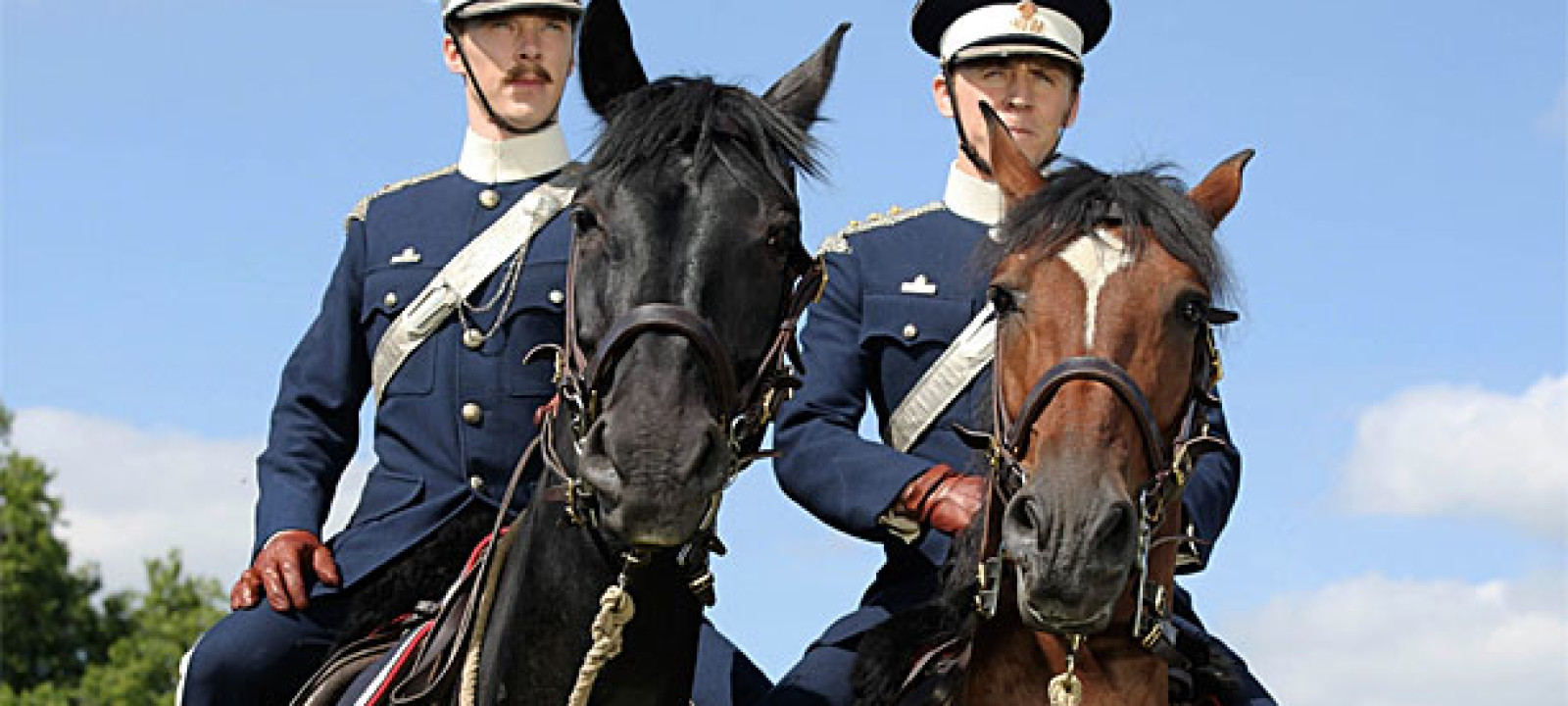 Benedict Cumberbatch and Tom Hiddleston in 'War Horse'