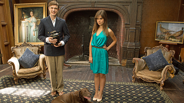 Ed Gamble and Amy Hoggart in BBC AMERICA's 'Almost Royal' (Photo: BBC AMERICA)