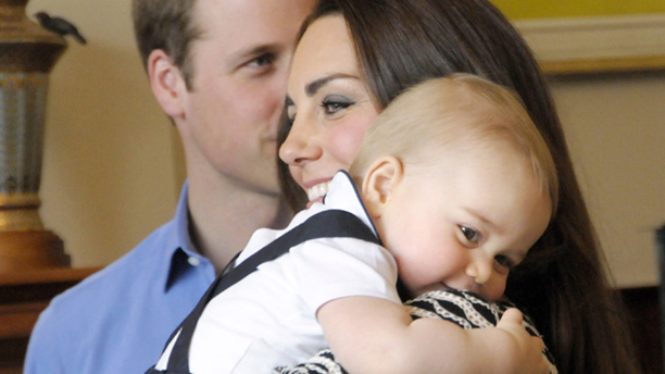 Prince George's first birthday. File photo dated 09/04/14 of the Duke and Duchess of Cambridge and Prince George whose first birthday is on July 22. Issue date: Sunday July 13, 2014. See PA story ROYAL George. Photo credit should read: PA Wire URN:20383130