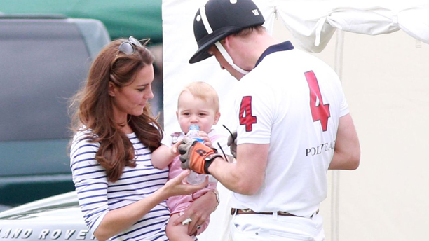 Catherine Duchess of Cambridge, Prince George and Prince William Jerudong Trophy polo match, Cirencester Polo Club, Gloucestershire, Britain - 15 Jun 2014  (Rex Features via AP Images)
