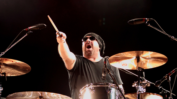 Jason Bonham, son of the late Led Zeppelin drummer John Bonham, performs with the Led Zeppelin Experience at the Susquehanna Bank Center on Wednesday, July 3, 2013, in Camden, N.J. (Photo by Owen Sweeney/Invision/AP)