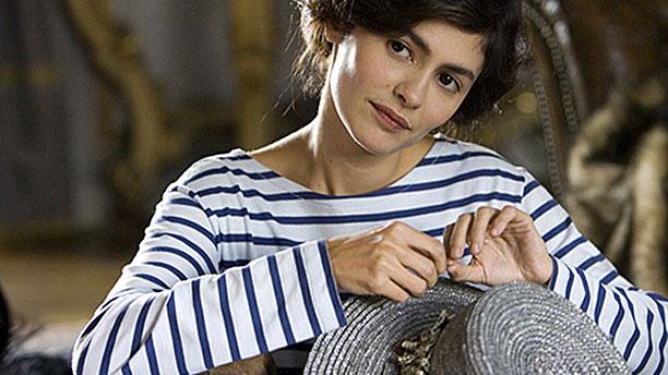 Audrey Tatou avec Breton sweater dans 'Coco Before Chanel'