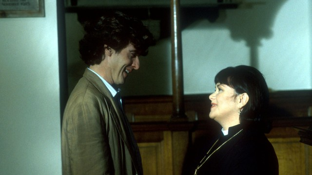 1994: Vicar of Dibley Capaldi made a few appearances in Vicar of Dibley as Tristan Campbell, the producer for the BBC show Songs of Praise. Check out his dark and luscious curls that made Tristan's potential love interest, Geraldine, swoon.