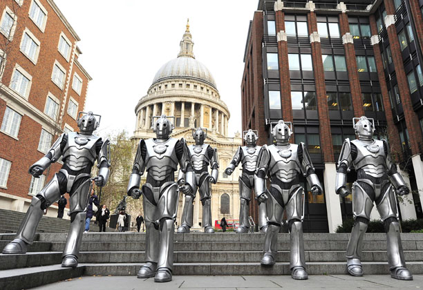 The Cybermen promote The Doctor Who Experience, 2011 (Pic: Press Association via AP Images)