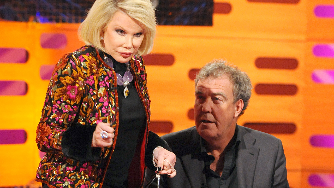 JOAN RIVERS 6 Appearances Fun Fact: Although the comedy legend isn't alone in the Six-Timers Club (it's a thing -- trust us!), she has made the most appearances of any American guest. Other six-timers include: Jimmy Carr, Dawn French, Alan Davies, Ed Byrne, and Jo Brand.