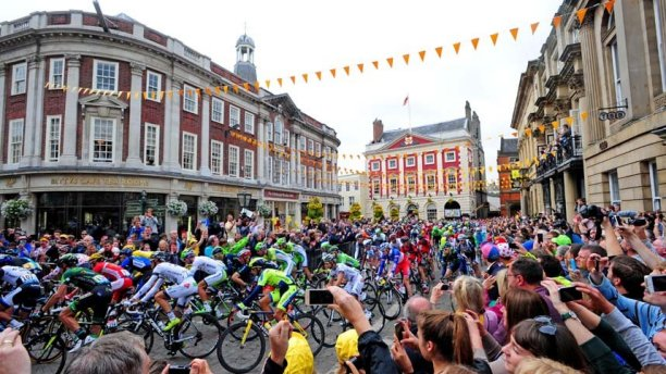 The Tour de France passes through York (Pic: Anthony Cappel-Ross/PA)