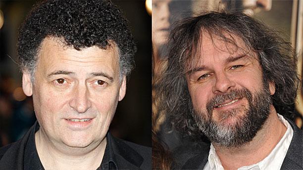 Steven Moffat and Peter Jackson (Pics: AP Images)