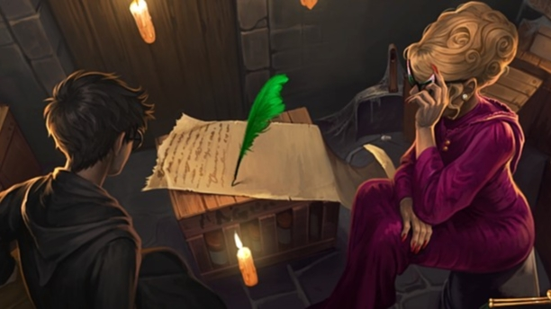 Harry Potter and Rita Skeeter (Pic: Pottermore.com)