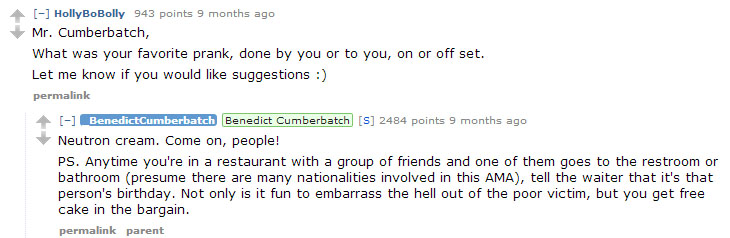 Looks like a friend will need to give Benedict a taste of his own medicine soon. (Reddit)