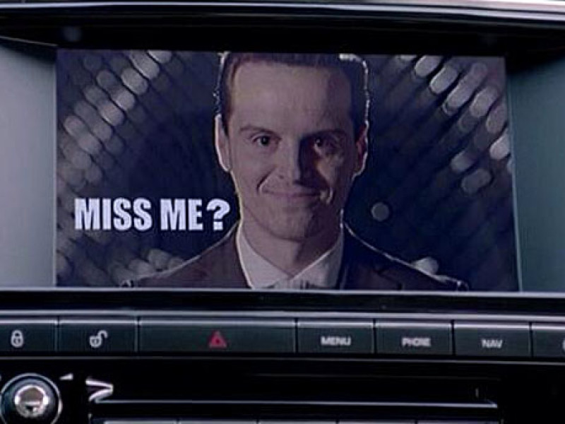 Andrew Scott as the presumed-dead Moriarty in 'Sherlock' (Pic: BBC)