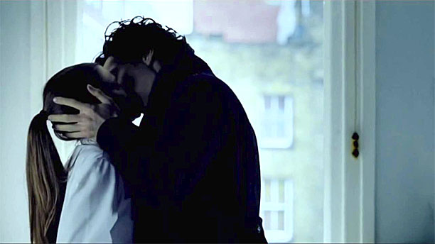 Sherlock and Molly and THAT kiss (Pic: BBC)