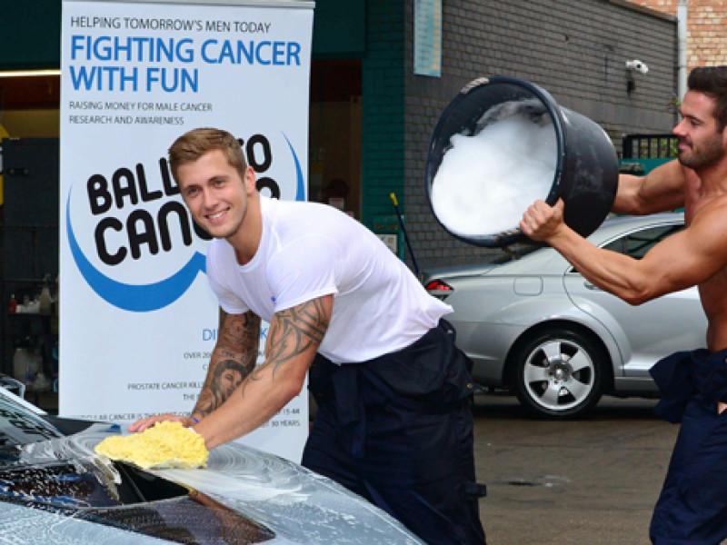 Dan Osborne and The Dreamboys Balls to Charity car wash, London,