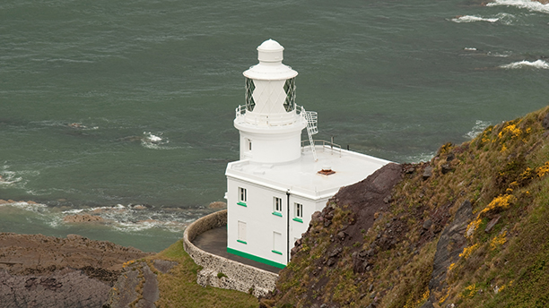 Photo of Hartland Point Lighthouse in Cornwall (AP)