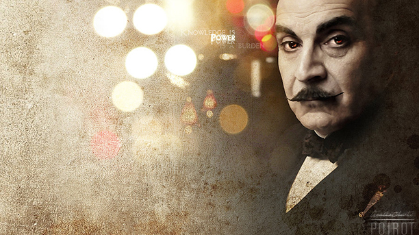 A fan pulled together different elements to create this artwork for Poirot. (DeviantArt)