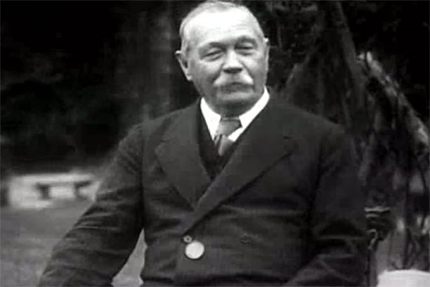 Sir Arthur Conan Doyle (Pic: YouTube)