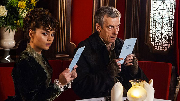 The Doctor and Clara take tea in 'Deep Breath' (Pic: BBC)