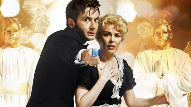 Kylie Minogue with David Tennant in 'Voyage of the Damned' (Pic: BBC)
