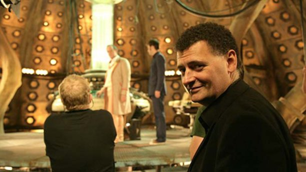 Steven Moffat oversees 'Time Crash' (Pic: BBC)