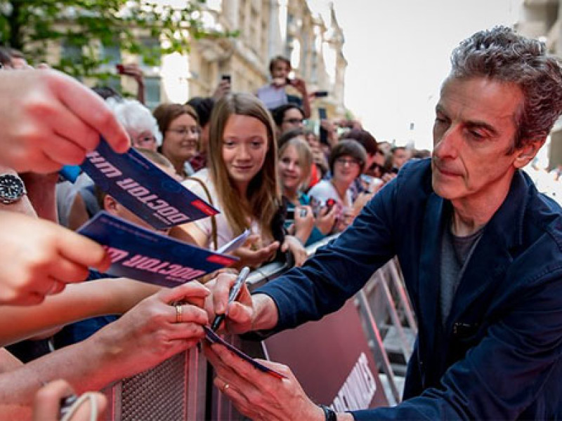 Peter Capaldi in Cardiff for the 'Doctor Who' tour