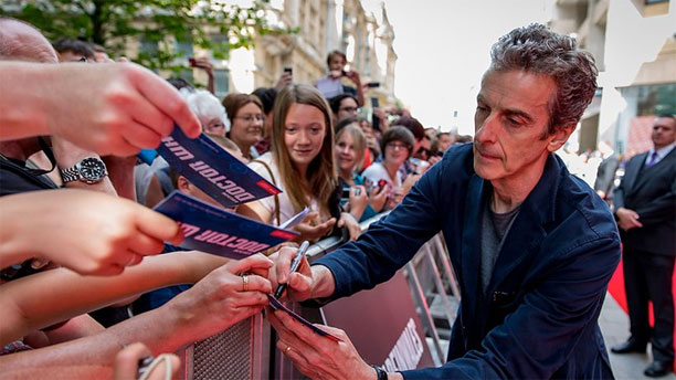 Peter Capaldi in Cardiff for the 'Doctor Who' tour  (Pic: BBC)