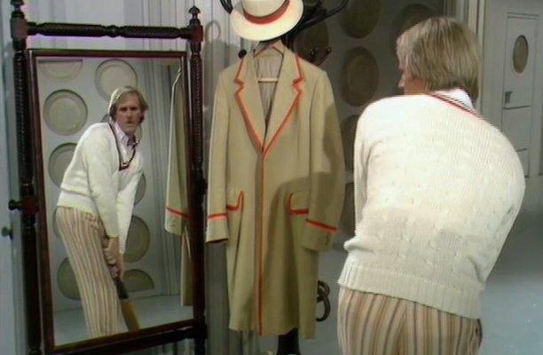 Peter Davison in 'Castrovalva' (Pic: BBC)