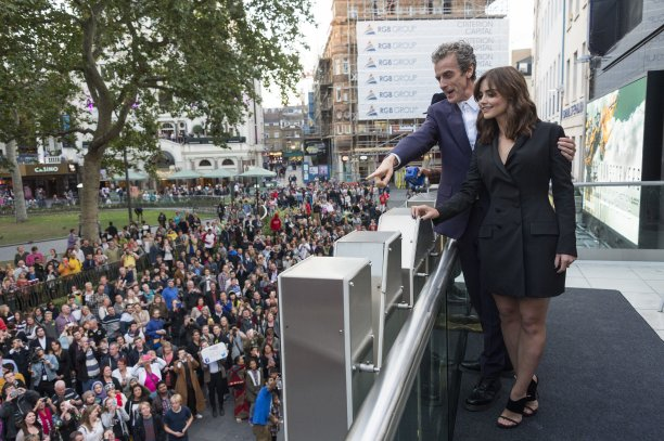 Peter and Jenna at Odeon Leicester Square for the 'Deep Breath' screening (Pic: Rex Features/PA)