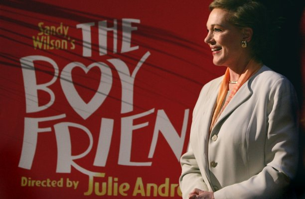 Having made her American stage debut aged 19 in a 1954 production of The Boy Friend, history repeated itself when Andrews made a new production of the show her directorial debut in 2003. She went on to direct a national tour in 2005. (Charles Krupa/AP)