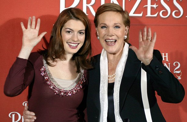 The Princess Diaries films, in which Dame Julie co-starred with Anne Hathaway, renewed her popularity once again. (Volker Dornberger/AP)