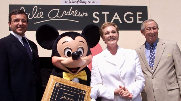 In 2001, Disney renamed the famous Stage Two, on which Mary Poppins had been filmed, as the Julie Andrews Stage. (Damian Dovarganes/AP)