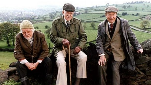 Bill Owen, Brian Wilde and Peter Sallis in 'Last of the Summer Wine' (BBC)