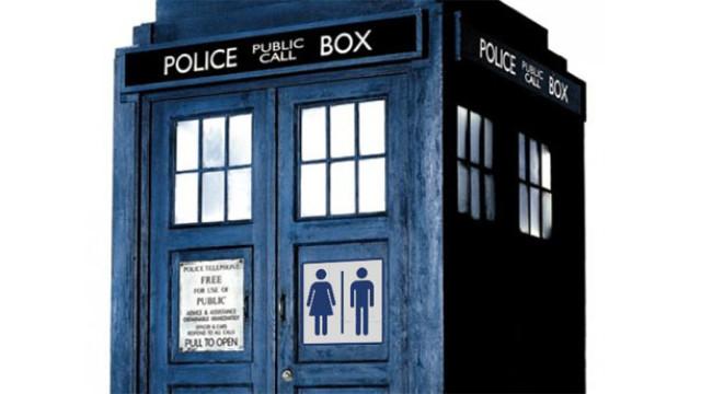 A TARDIS toilet (Pic: BBC)